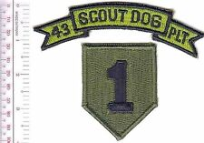 K-9 Vietnam US Army 43rd Scout Dog Platoon 1st Infantry Division War Dogs acu