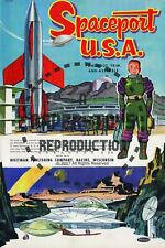 Vintage Reprint - 1953 - Spaceport Usa Punch-Out Book - Reproduction