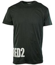 dsquared2 t shirt black & white BIG LOGO  size large/medium 100% genuine bnwt