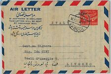58902 -  AFGHANISTAN - POSTAL HISTORY: Stationery  AEROGRAMME to ITALY 1953