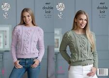 King Cole 4867 Knitting Pattern Womens Sweaters in King Cole Baby Alpaca DK