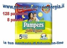 128 PANNOLINI PAMPERS SOLE E LUNA TAG 5 JUNIOR (11-25KG) 8 PACCHI DA 16 PZ CAD.