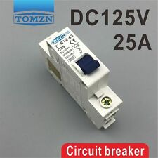 1P 25A DC 125V Circuit breaker MCB direct-current C curve