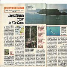 Coupure de presse Clipping 1989 Le Mystérieux trésor de l'île Cocos (1 page 1/2)