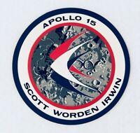 Apollo 15 Glossy Vinyl Sticker. 1971. Kept Well!
