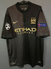 NIKE FC MANCHESTER CITY 2013/2014 CHAMPIONS LEAGUE SOCCER FOOTBALL SHIRT SIZE XL