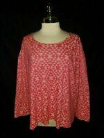 PENDLETON Size XL Shirt Top Pink Southwest 3/4th Sleeve