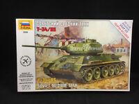 Zvezda T-34/85 Soviet Medium Tank 1:72 Scale Plastic Model Kit 5039 NIB