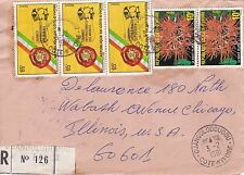 BD804) Ivory Coast 1981 nice registered cover to USA