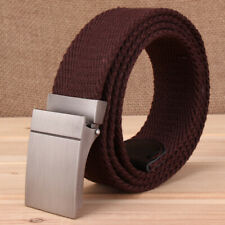 """1.5"""" Wide Mens Canvas Belts Top Designed Buckle Braided Casual Trousers Belt NEW"""