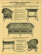 1932 PAPER AD 6 PG Lloyd Loom Fibre Furniture Settee Sofa Rocker Rocking Chair