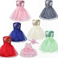 Kid Princess Baby Flower Girl Dress Lace Wedding Party Gown Bridesmaid Dresses
