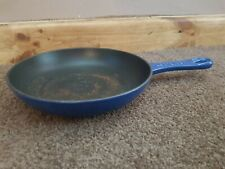 Le Creuset Cast Iron Frying Pan Blue Used