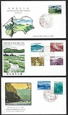 JAPAN 1950's-70's COLLECTION OF 16 PARKS SETS ON 16 FDC's ALL WITH CACHETS