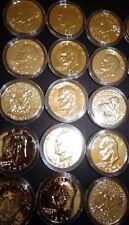 1-EISENHOWER IKE DOLLAR *Moon Landing of Apollo 11* 24K GOLD PLATED IN CAPSULE