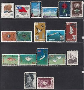 Taiwan Stamp 1961-65 a page of 8 mint sets, mint light hinged(MLH)