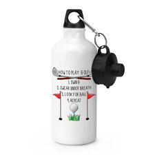 Cómo To Play Golf Deportes Botellín Acampada Flask - Gracioso Dad Padre Días