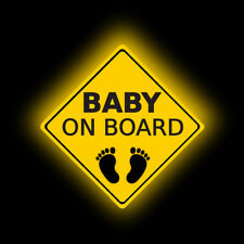 1x PET Baby on Board Footprint Car Cody Warning Sticker Tail Decal Accessories