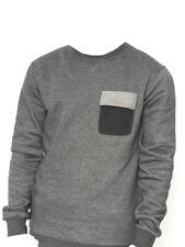 Volcom locky Crew Sweater suéter antracita con bolsillo pecho hombre nuevo