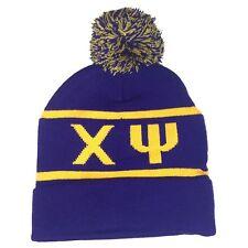 Chi Psi Knit Beanie Pom Winter Hat