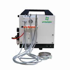 Dynamic Portable Dental Unit+Air Compressor+Triplex Syringe 4H 550W FDA Approved