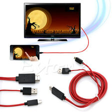 MHL MICRO USB TO HDMI ADAPTER CABLE LEAD FOR SAMSUNG GALAXY S3 S4 S5 NOTE 2 3