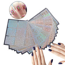 26 x Nail Art Vinyl Stencil Guide Sticker Manicure Hollow DIY French Tips UV Gel