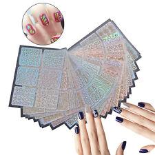 26 x Nail Art Vinyl Stencil Guide Sticker Manicure Hollow DIY French Tips UV Gel