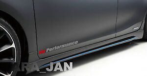 V6 PERFORMANCE Vinyl skirt  Decal sport racing door sticker SILVER/RED