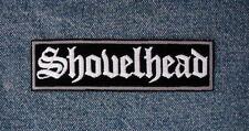 LARGE SHOVELHEAD Biker Patch For Your Motorcycle Vest Gray & White