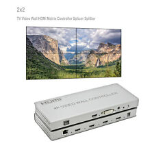 HDMI DVI 4-Display Video Processor 2x2 4K Video Wall Controller 3 Modes HDMI 1.4