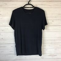 ATM Anthony Thomas Melillo Mens XL Navy Micromodal Rib Short Sleeve T-Shirt $195