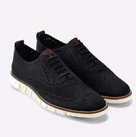 Cole Haan Men's Zerogrand Stitchlite Wingtip Oxford Shoes - Black/Ivory - C24948