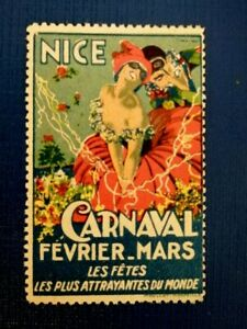 Old Poster Stamp  Nice Carnaval Fevrier - Mars - France Erinnofilo Cenerentola