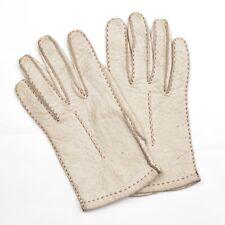 Peccaryleder Handschuhe Gr 7 Cremeweiss Gloves CLASSIC S HERBST Autohandschuhe