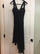 CARLOS MIELE Stunning Black 100% Silk Cocktail Dress. Size 36