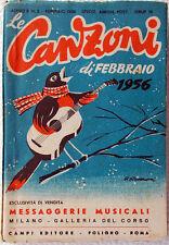 Le CANZONI di Febbraio 1956/2 Messaggerie Musicali-design Roveroni-Testi e foto