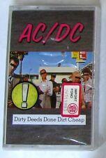 AC/DC - DIRTY DEEDS DONE DIRT CHEAP - Musicassetta Sigillata MC K7