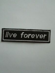 3 Inch Oasis Live Forever Indie style iron or sew on patch badge