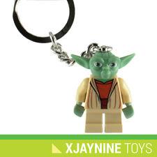 GENUINE LEGO Star Clone Wars Jedi Master Yoda Minifig Keychain Key Holder NEW