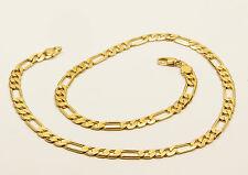 Para mujer o para hombre 14 CT Oro Lleno Figaro chain Enlace Collar Joyería