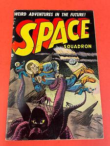SPACE SQUADRON # 5  (1952) ATLAS -  GOLDENAGE COMIC BOOK - SCI-FI COVER