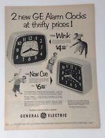 Original Print Ad 1953 GENERAL ELECTRIC GE Alarm Clocks Wink