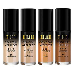 Milani Conceal + Perfect 2-in-1 Foundation + Concealer, You Choose