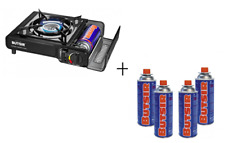 Cocina portatil Butsir Ms1000 dual para interior y exterior con Maletín