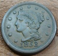 1853 Large Cent   #LC53HG Beautiful high grade coin