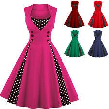 PIEGHE pois vestito stile rockabilly pin up Swing anni 50 ANNI '40 Retro Vintage