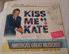 """record album Ed Sullivan Presents Kiss Me Kate 12"""" 33rpm 1960 VG/G"""