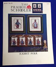 1988 The Prairie Schooler Rabbit Folk Cross Stitch Pattern Booklet #19 Easter