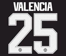 Valencia 25 Manchester United 2017-2018 European Cup Away Football Nameset shirt